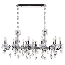 CWI Lighting Flawless 46 inch 12 Light Chandelier with Chrome Finish