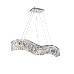Glamorous 30-inch 5 Light Chandelier with Chrome Finish