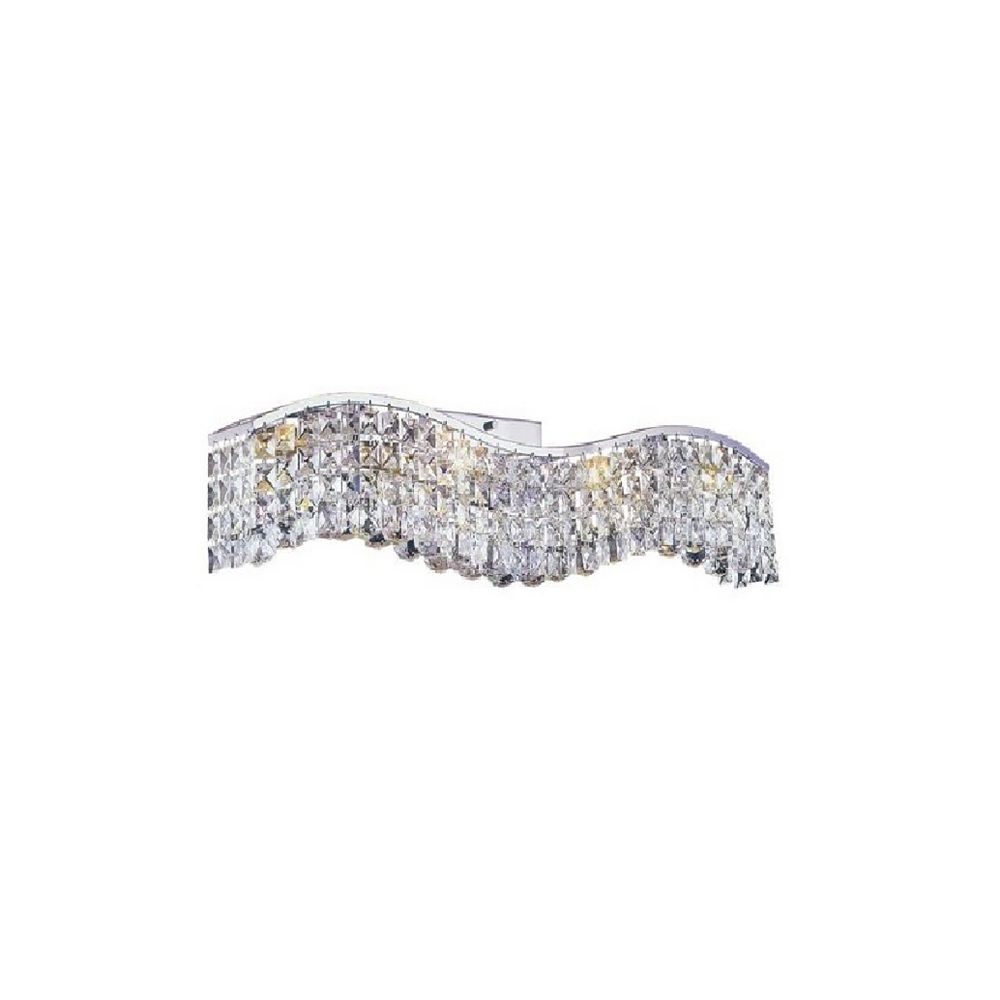 CWI Lighting Glamorous 5 inch Three Light Wall Sconce with Chrome Finish