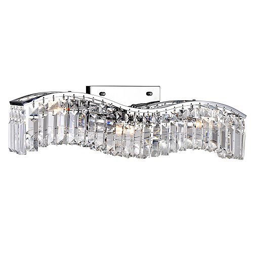 CWI Lighting Glamorous 5 inch 3 Light Wall Sconce with Chrome Finish