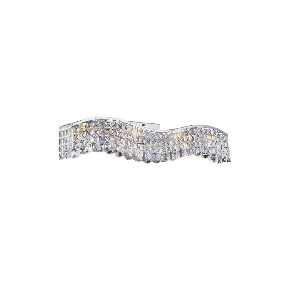 CWI Lighting Glamorous 5 inch 5 Light Wall Sconce with Chrome Finish