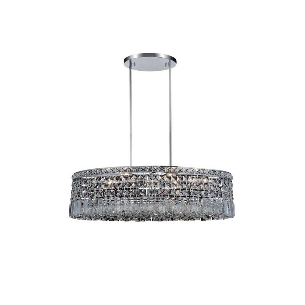 CWI Lighting Colosseum 18 inch 8 Light Chandelier with Chrome Finish