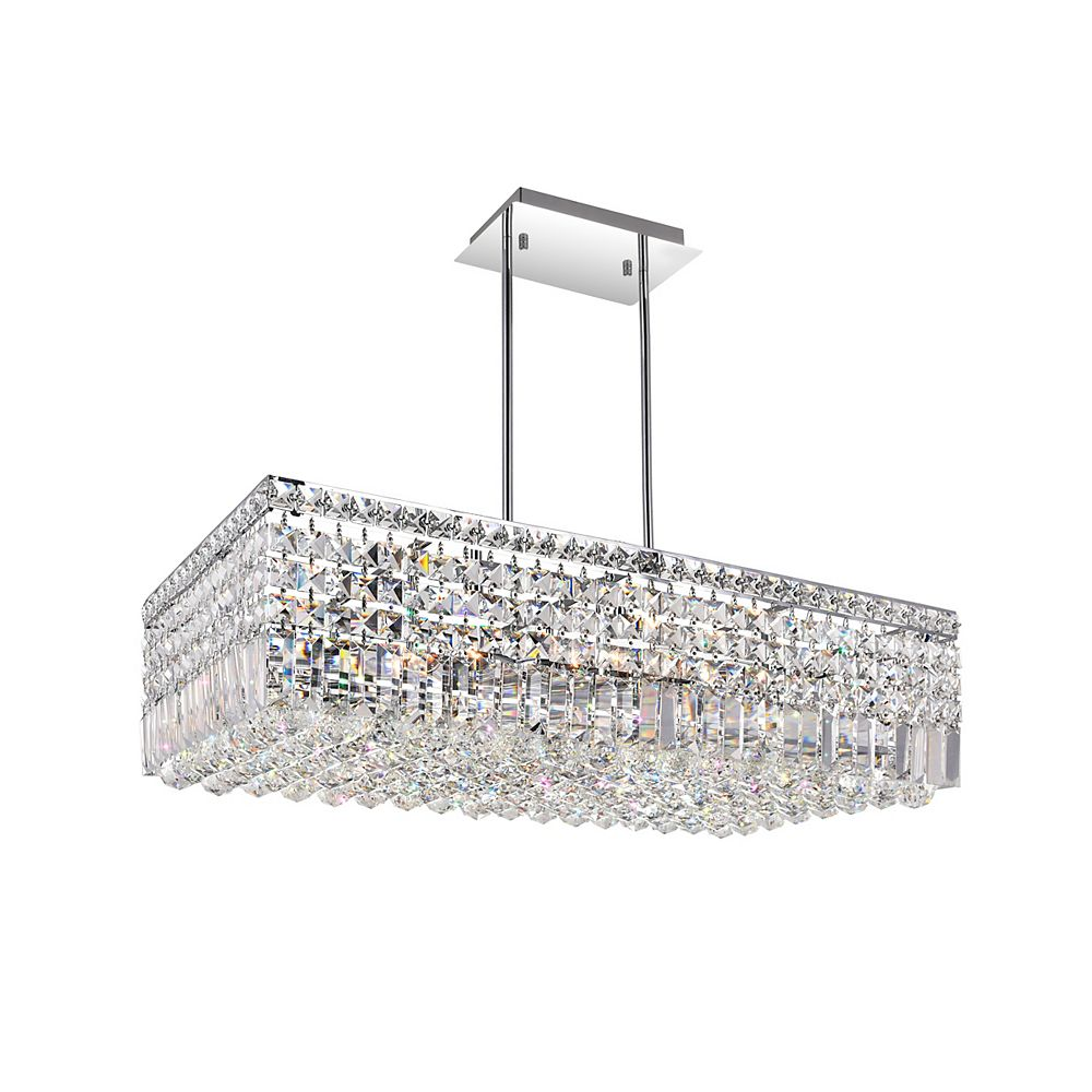 CWI Lighting Colosseum 30-inch 10 Light Chandelier with Chrome Finish