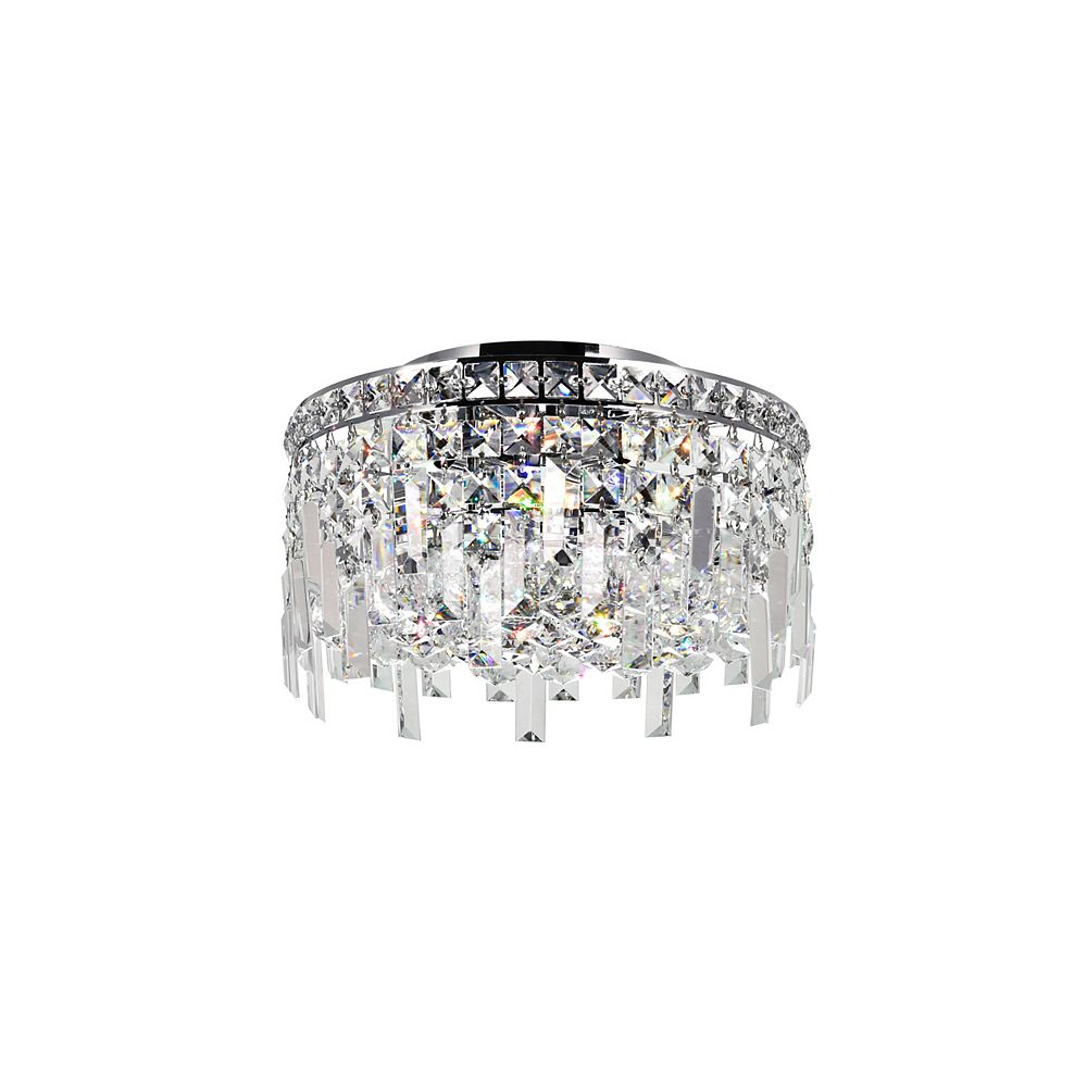 CWI Lighting Colosseum 12 inch 4 Light Flush Mount with Chrome Finish