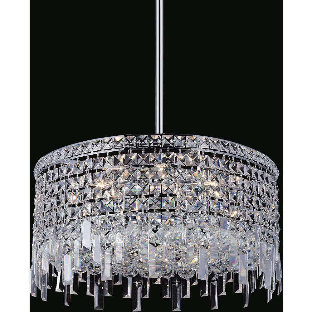 CWI Lighting Colosseum 20 inch 8 Light Chandelier with Chrome Finish