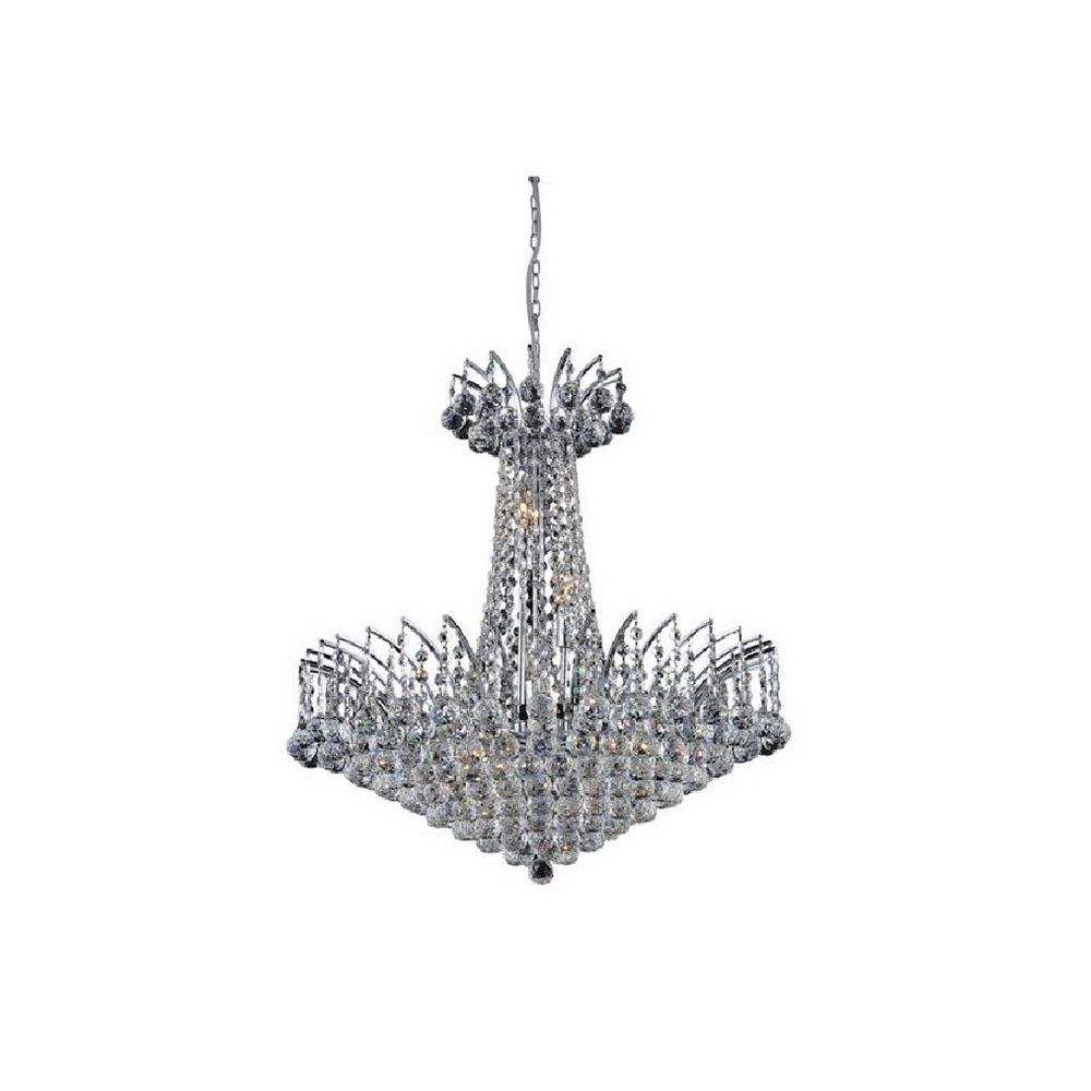 CWI Lighting Posh 29 inch 22 Light Chandelier with Chrome Finish