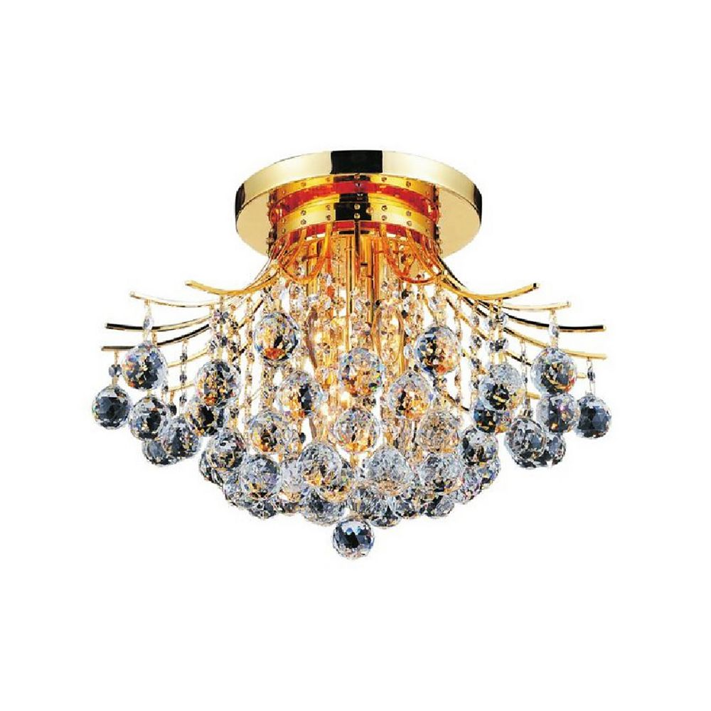 CWI Lighting Princess 19 inch 6 Light Flush Mount with Gold Finish