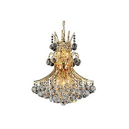 Princess 24 inch 10 Light Chandelier with Gold Finish