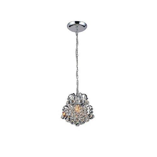 9 pouce Blossom 1 Lumière Mini Pendentif avec Fini chromé
