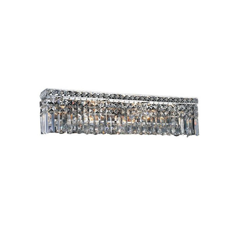 CWI Lighting Colosseum 5 inch 6 Light Wall Sconce with Chrome Finish