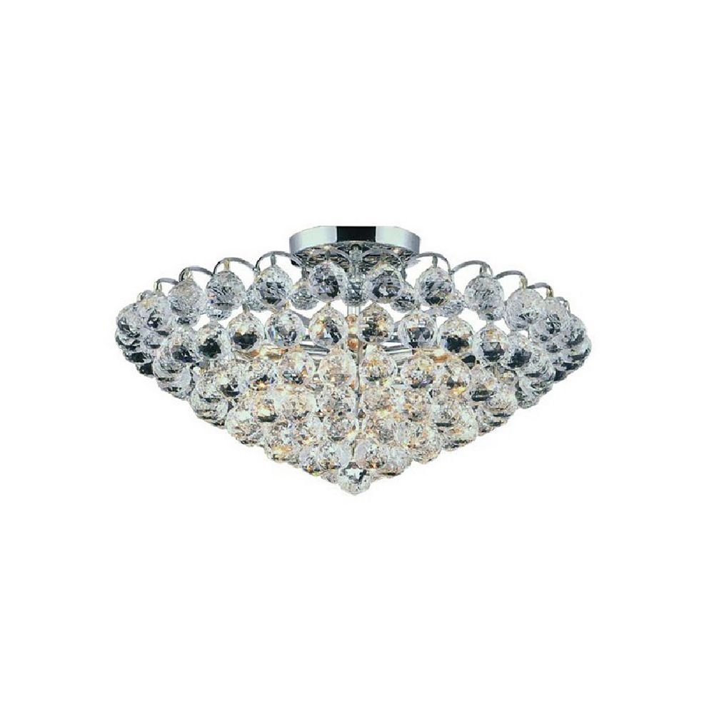 CWI Lighting Glimmer 22 inch 8 Light Flush Mount with Chrome Finish