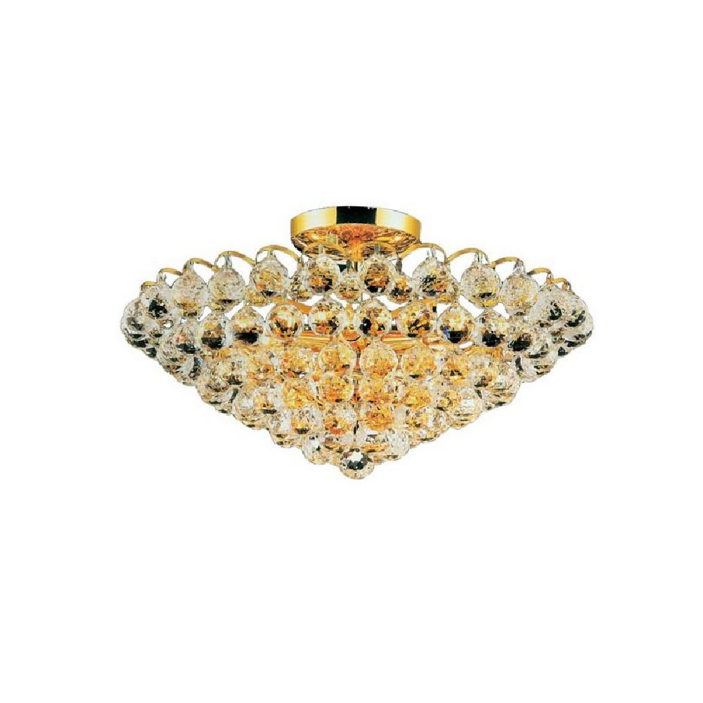 CWI Lighting Glimmer 22 inch 8 Light Flush Mount with Gold Finish