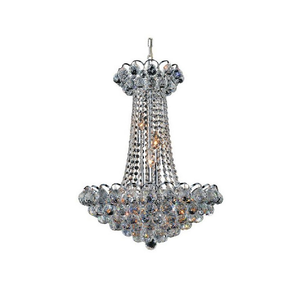 CWI Lighting Glimmer 21 inch 11 Light Chandelier with Chrome Finish