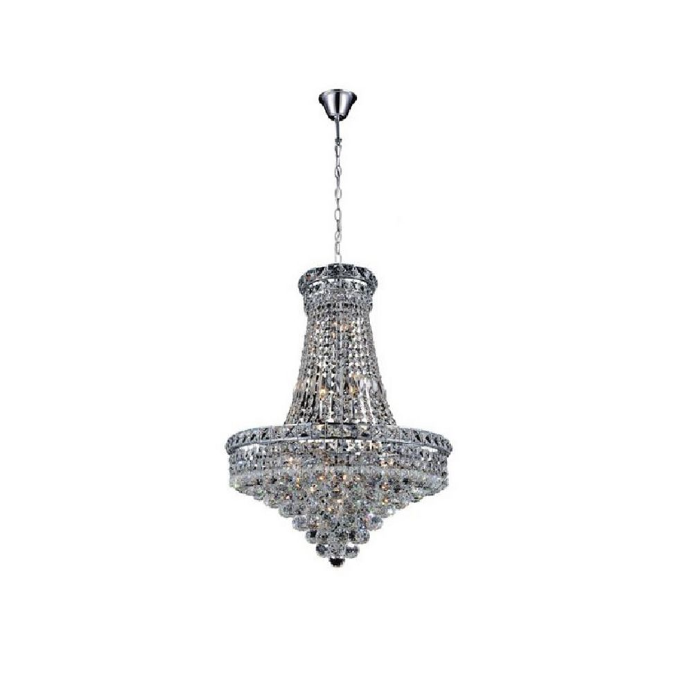 CWI Lighting Luminous 22 inch 14 Light Chandelier with Chrome Finish