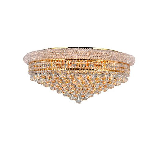 CWI Lighting Empire 28 inch 19 Light Flush Mount with Gold Finish