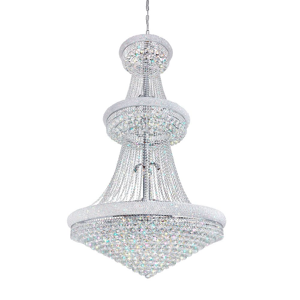 CWI Lighting Empire 42 inch 38 Light Chandelier with Chrome Finish