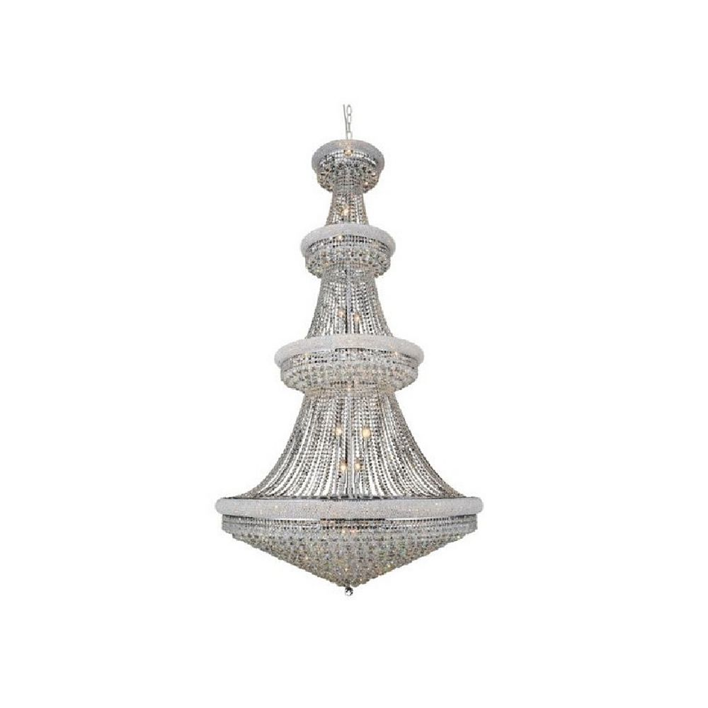 CWI Lighting Empire 50 inch 42 Light Chandelier with Chrome Finish