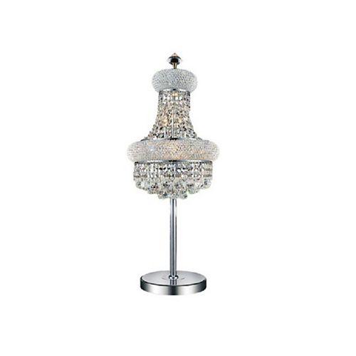 14 pouce Empire 6 Lumière Lampe de table avec Fini chromé