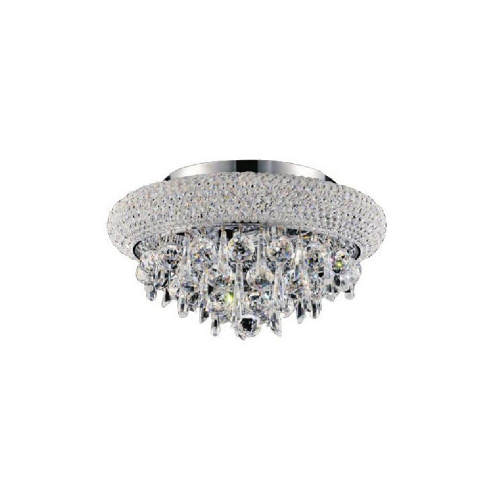 CWI Lighting Kingdom 12 inch 3 Light Flush Mount with Chrome Finish