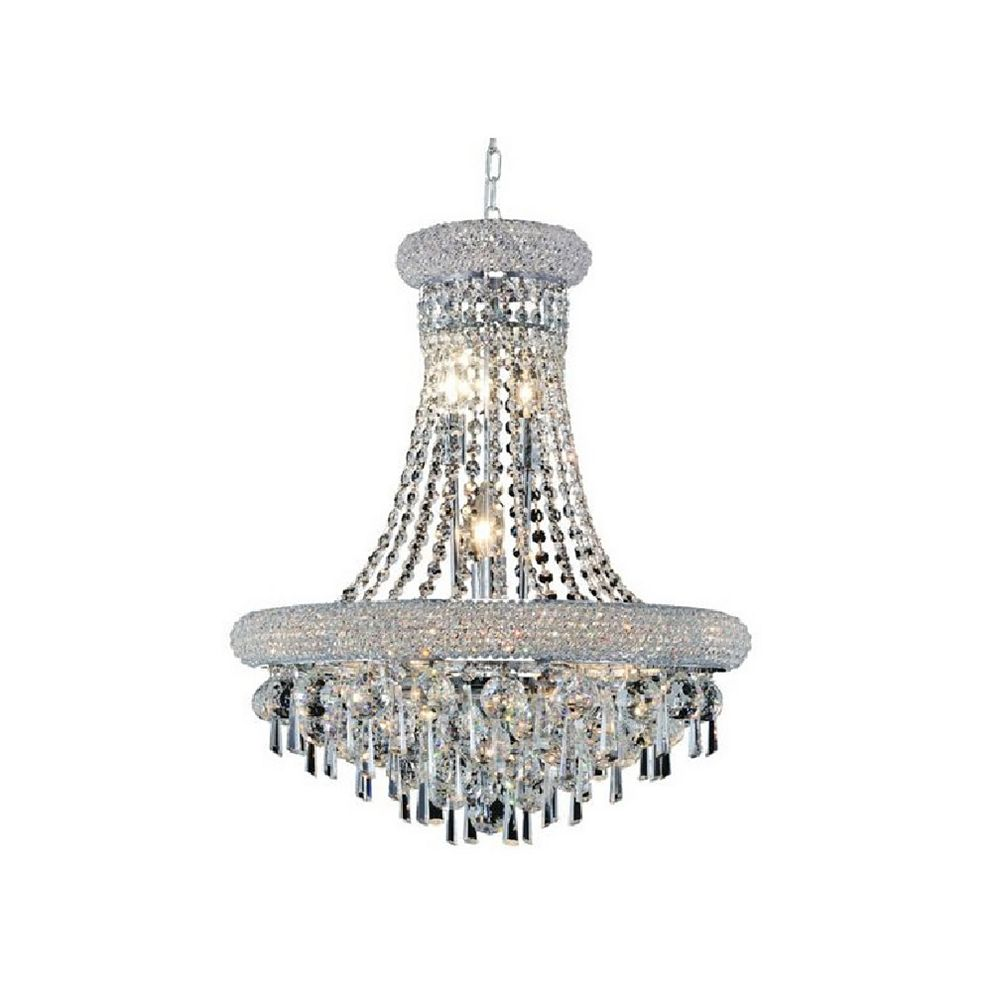 CWI Lighting Kingdom 26 inch 17 Light Chandelier with Chrome Finish