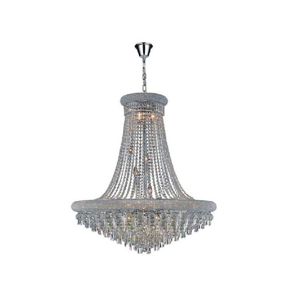 CWI Lighting Kingdom 36 inch 20 Light Chandelier with Chrome Finish