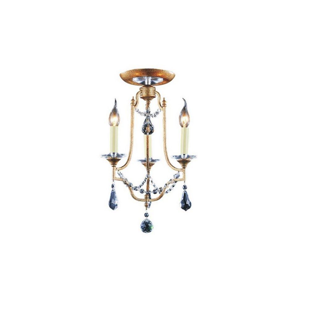 CWI Lighting Electra 14 inch 3 Light Flush Mount with Oxidized Bronze Finish