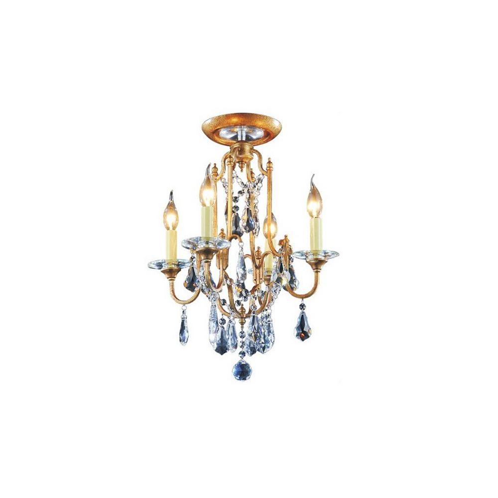 CWI Lighting Electra 17 inch 4 Light Flush Mount with Oxidized Bronze Finish