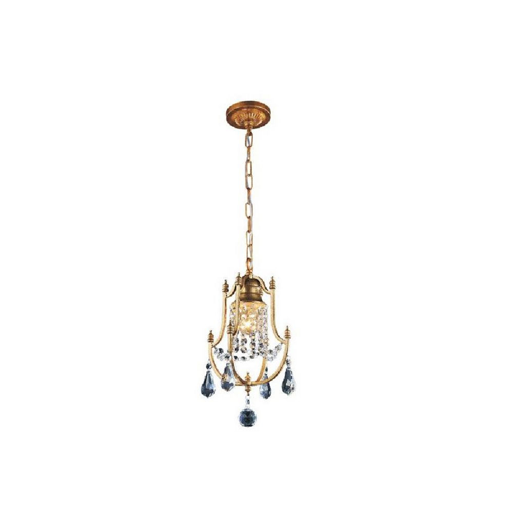 CWI Lighting Electra 8 inch 1 Light Mini Pendant with Oxidized Bronze Finish