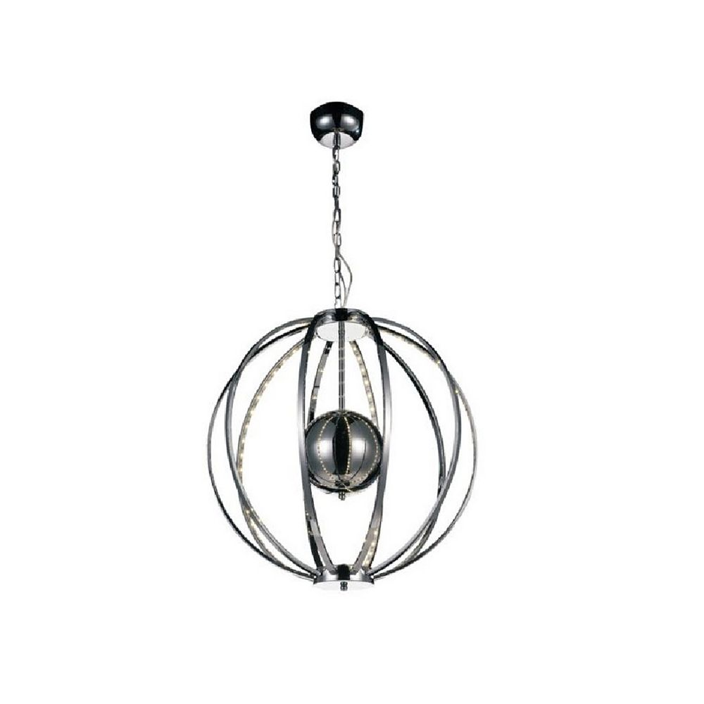 CWI Lighting Jacquimo 22 inch LED Chandelier with Chrome Finish