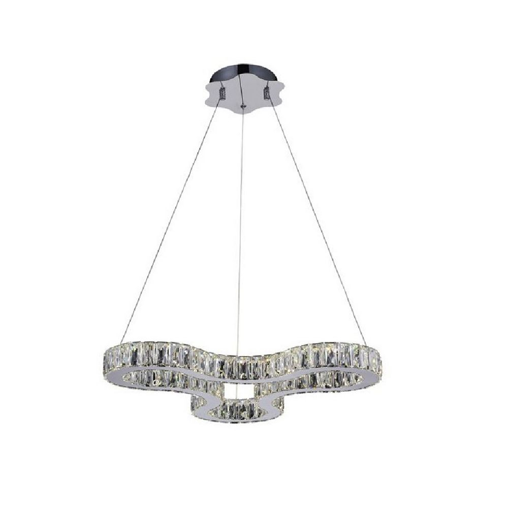 CWI Lighting Odessa 23 inch LED Chandelier with Chrome Finish