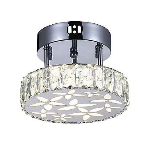 Aster 8 inch LED Flush Mount with Chrome Finish