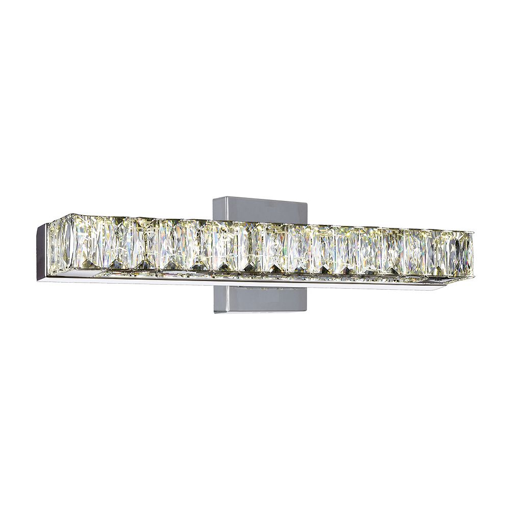 CWI Lighting Milan 16 inch LED Wall Sconce with Chrome Finish