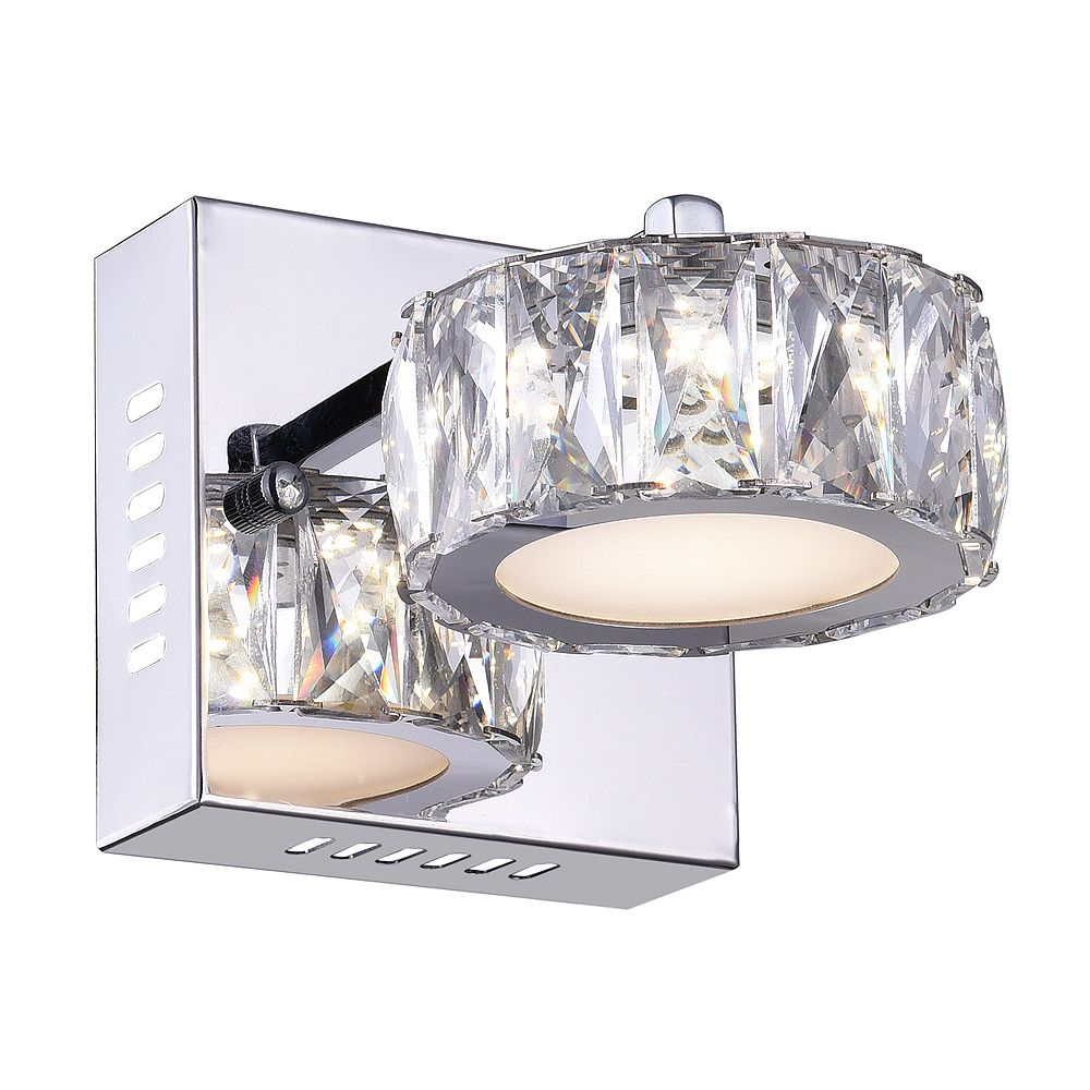 CWI Lighting Milan 7 inch LED Wall Sconce with Chrome Finish