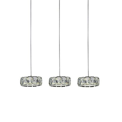 CWI Lighting Milan 26 inch LED Chandelier with Chrome Finish