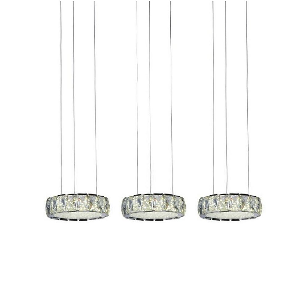CWI Lighting Milan 31 inch LED Chandelier with Chrome Finish