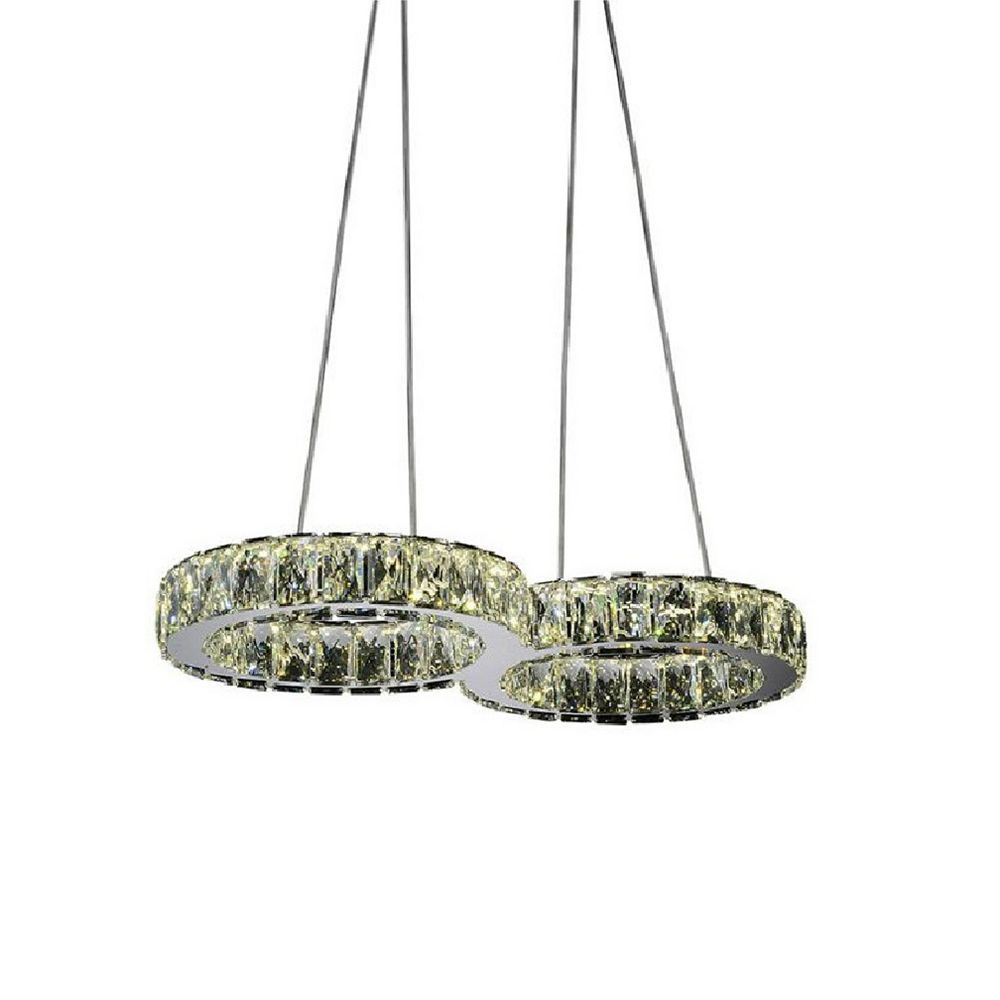 CWI Lighting Infinite 22 inch LED Chandelier with Chrome Finish