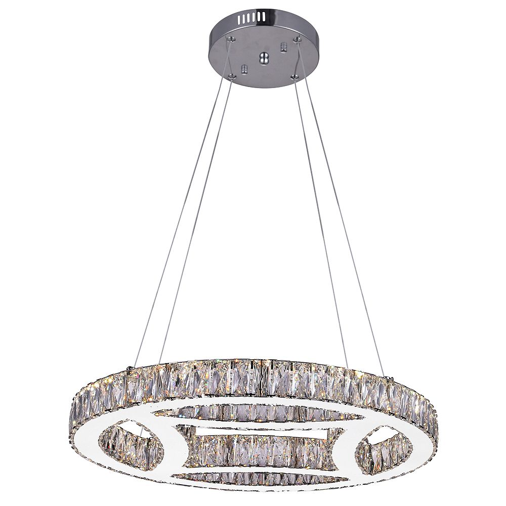 CWI Lighting Beyond 20 inch LED Chandelier with Chrome Finish