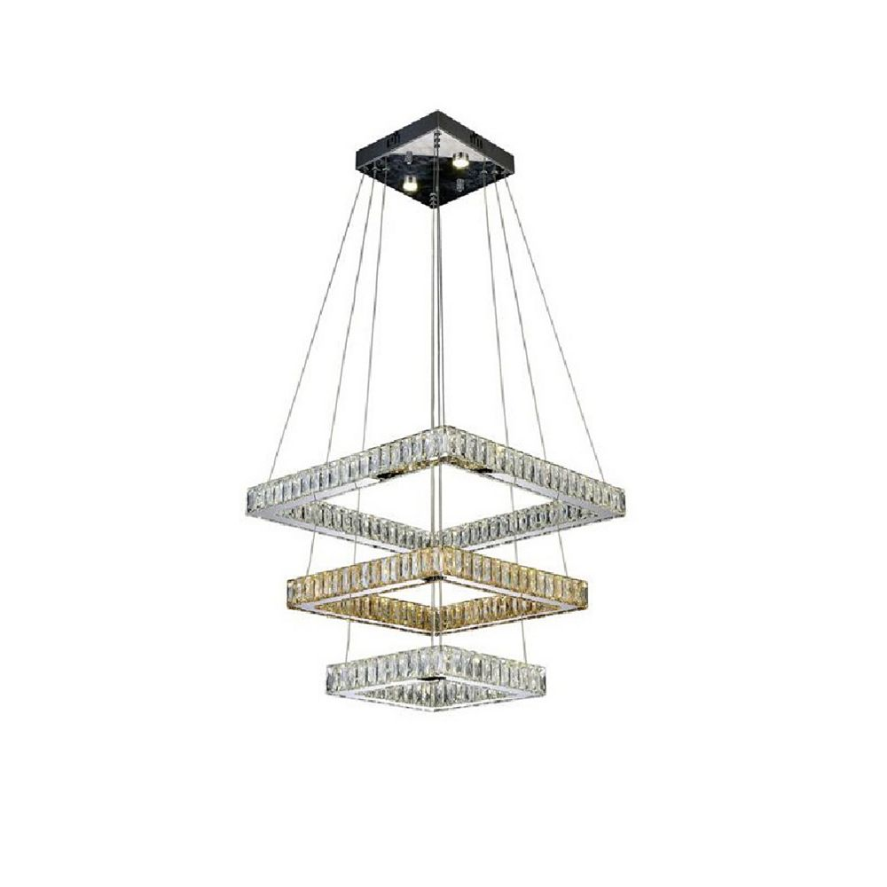 CWI Lighting Florence 20 inch LED Chandelier with Chrome Finish