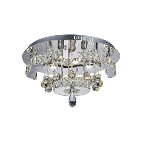 CWI Lighting Comet 20 inch LED Flush Mount with Chrome Finish