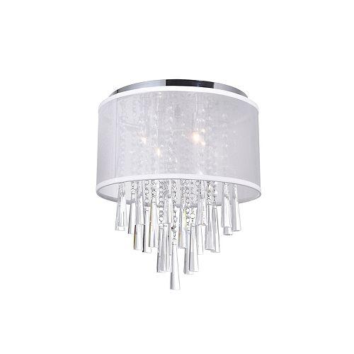 13 pouce Renee 4 Lumière Mini Plafonnier avec Fini chromé