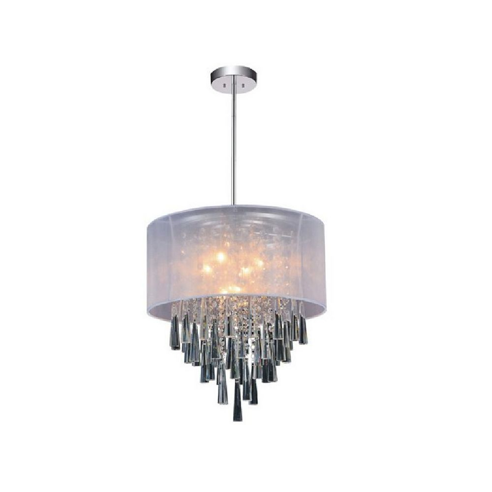 CWI Lighting Renee 19-inch 6 Light Chandelier with Chrome Finish