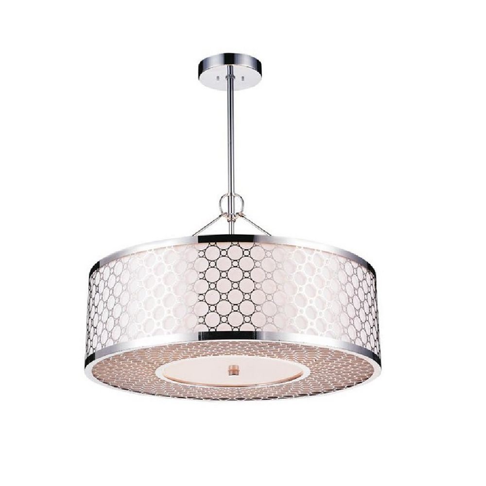 CWI Lighting Swiss 20-inch 5-Light Chandelier with Chrome Finish