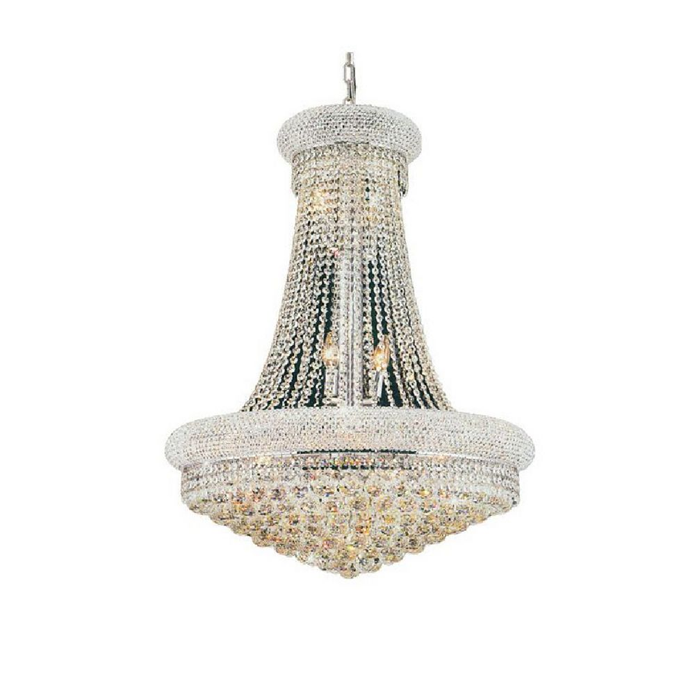 CWI Lighting Empire 28 inch 18 Light Chandelier with Chrome Finish