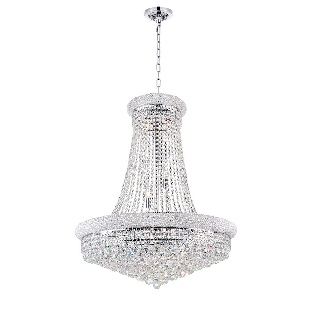 CWI Lighting Empire 32 inch 19 Light Chandelier with Chrome Finish