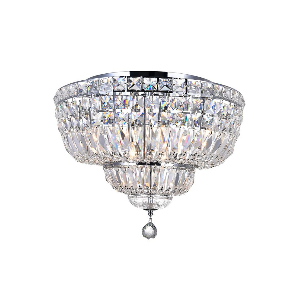 CWI Lighting Stefania 20 inch 8 Light Flush Mount with Chrome Finish