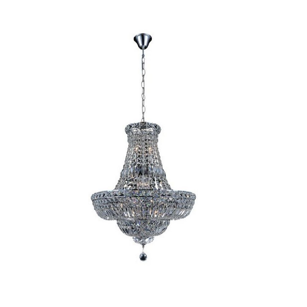 CWI Lighting Stefania 31 inch 17 Light Chandelier with Chrome Finish