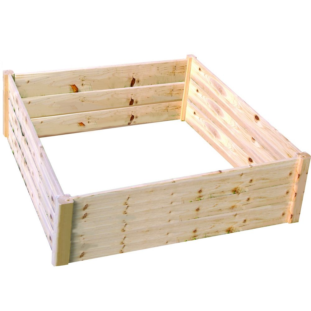 Eden Quick Assembly Raised Garden Bed (4 ft. X 4 ft. X 17.5 inch)