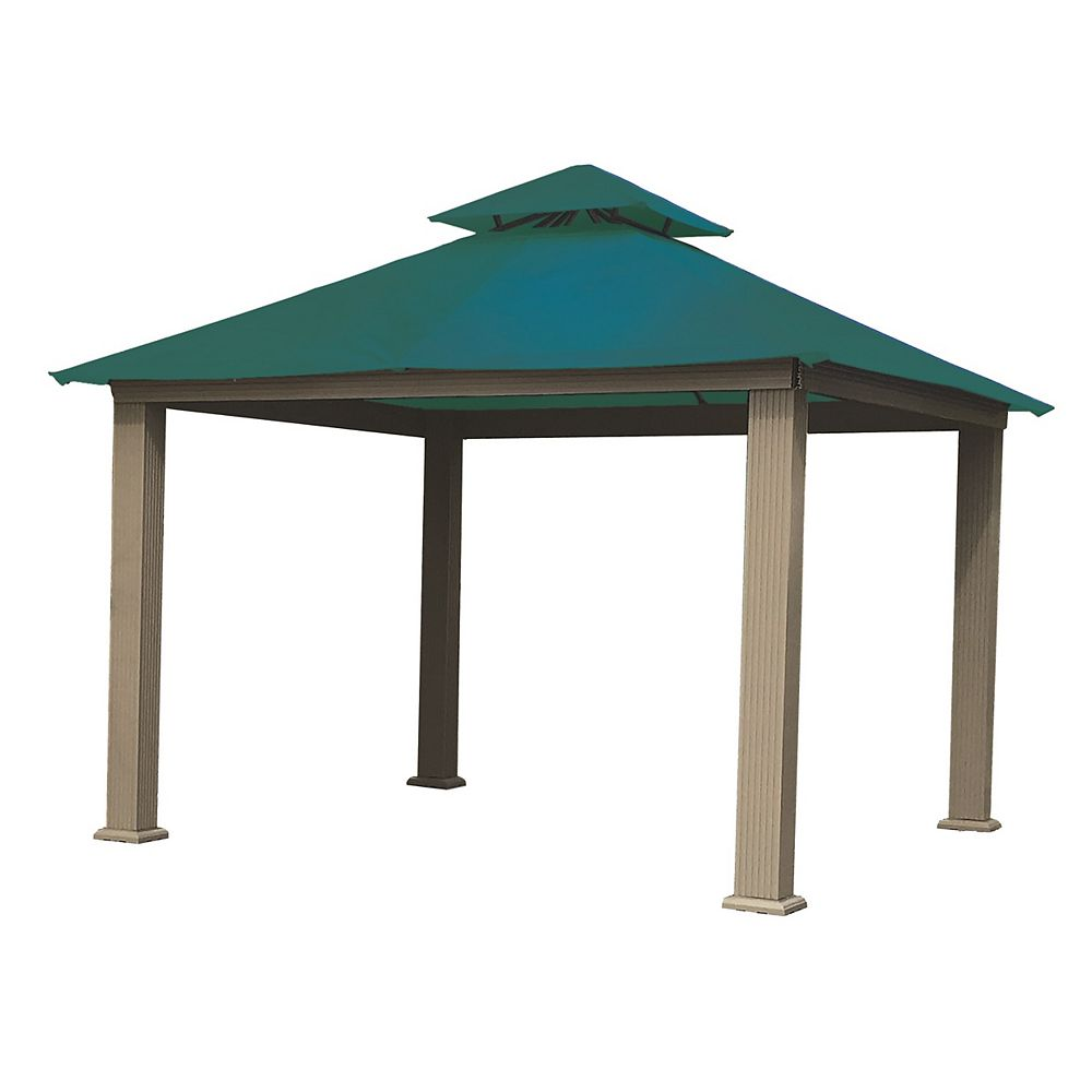 ACACIA 12 ft. Sq. Gazebo -Teal