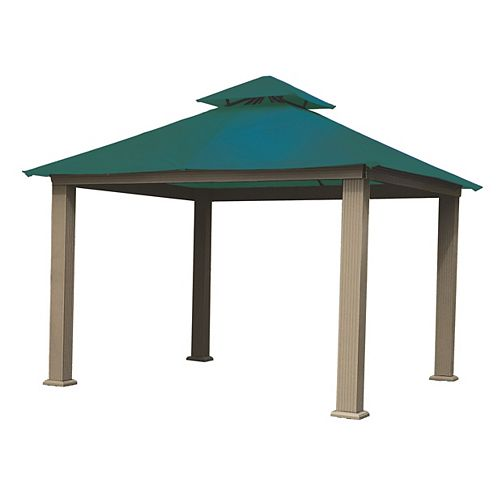 12 ft. Sq. Gazebo -Teal