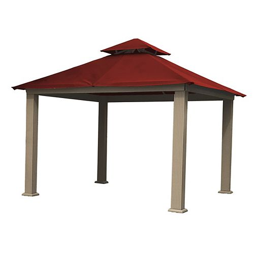 12 ft. Sq. Gazebo -Red